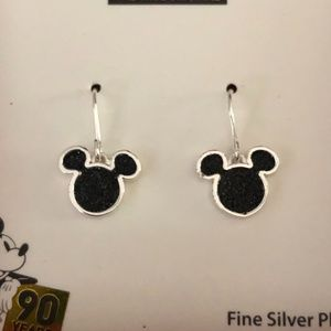 Disney Jewelry - Mickey Mouse Silver Plated Earrings